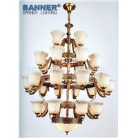 Alabaster brass chandelier