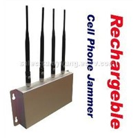 Rechargeble cell phone jammer