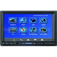 "TWO DIN 7""Touch Screen DVD with Bluit-in GPS+SD Card-reader+USB Port + Radio + TV Tuner+B"