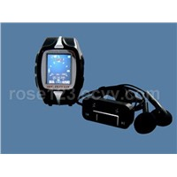 fashionable  tri  band  watch  phone  with  bluetooth