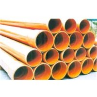 Buried PVC-C pipes for power and cable ducts