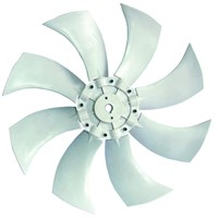 Fan blade of evaporative air cooler