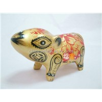 Gift & Decoration/Folk craft/Painted Clay sculpture/12 Chinese Zodiac Animals/Mouse
