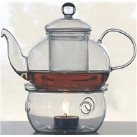 Glass Teapot with tea warmer