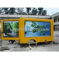 Outdoor Movable 3 side truck led display