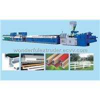 PVC, PE, PP and Wood Panel Extrusion Line