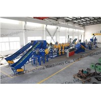 pe pp film/woven bags recycling machine