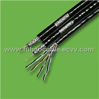 Double RG6 Quad cable with CAT5E