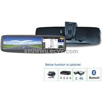 4 inch Approprative rearview mirror buit-in GPS and Bluetooth hands-free function