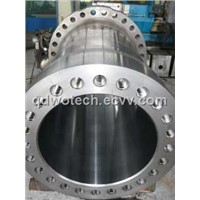 Forged cylinder for hydraulic shearing