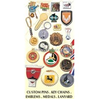 badges, medals, enamel, custom pin, key chains, lanyard, acrylic products