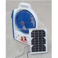 solar fan and LED lantern
