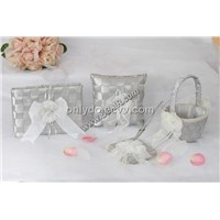 wedding guest books flower girl baskets pen set pen holder ring bearer pillows