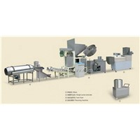Fried extruded snack processing line
