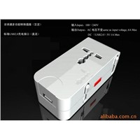 Universal travel plug adapter with USB