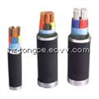 XLPE insulated, PVC sheathed power cable