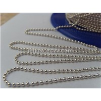 silver color ball chain(1.5mm)