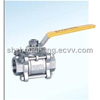 3 pcs thread ball valve