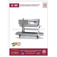 Automatic Table Top Vertical Band Sealing Machine With Conveyor
