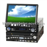 1 Din Car PC + 7 inch Touchscreen VGA TFT LCD Monitor