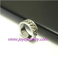 316L stainless steel ring in fashion design