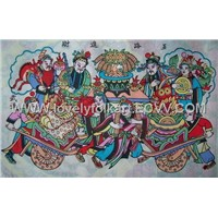 China cloth painting-Making a lot of money