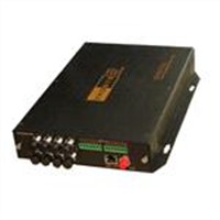 8 channel video fiber optic transceiver