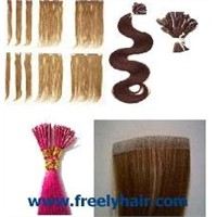 Human HAIR EXTENSION Pre Bonded I Tip Hair U Tip Hair