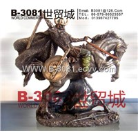 House ornament /handicraft /fine arts /carving //Knight / F006
