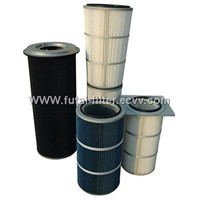 Polyester Air Filter Cartridge with PTFE Media
