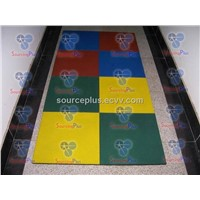Rubber safety tiles
