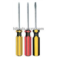 Two Color Plastic Handle Screwdriver