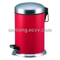 12Lpedal trash can with vaulted lid