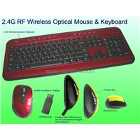 2.4Ghz wirless digital mouse and keyboard COMBO