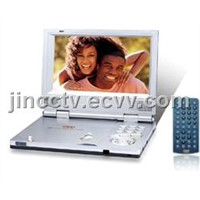 7'TFT LCD portable DVD player with USB port 1/3 card reader