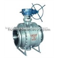 API Fixed Worm Gear Ball Valve