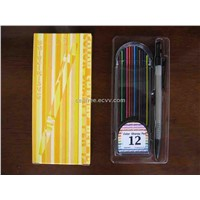 Automatic Mechanical Pencil Set With Refillable 12 Sharpy Color Lead Color Pencil Non-stop Pencil