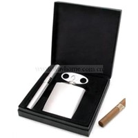 Cigar Gift Set with Hip Flask