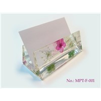Handmade Business Card Holder with Dried Flower (MPT-F-001)