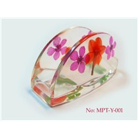 Handmade Business Card Holder with Dried Flower (MPT-Y-001)