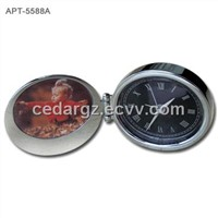 Metal Art Travel Clock with Mini Photo Frame