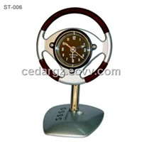 Metal Steering Wheel Model Clock