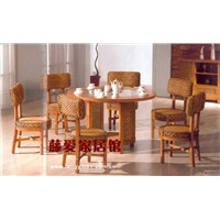 Rattan furniture:Timeless dining room Series