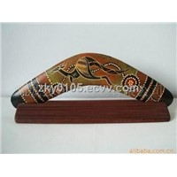 boomerang woodwork gift craft
