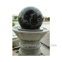 fountain and stone  spheres