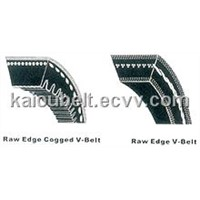 raw edge v-belt