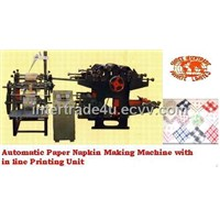 Paper Napkin Making Machine with inline Printing