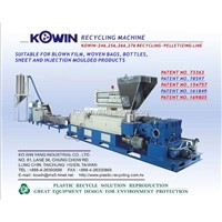 Plastic recycle extrusion line
