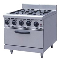 4-head Gas Stove With Gas Oven