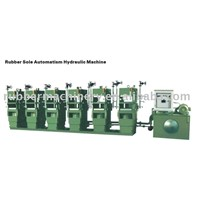 Automatic hydraulic press machine for rubber sole